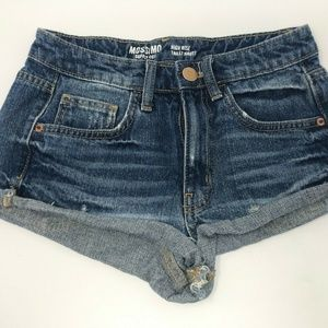 Mossimo Supply Co Womens Blue Jeans Shorts